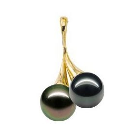 pendentif femme en perles noires de tahiti