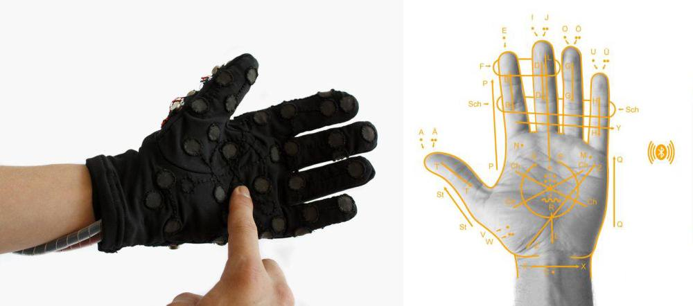 Deaf-blind communicate with high-tech glove