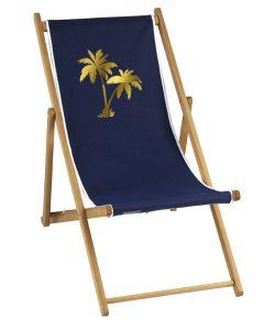 Transat personnalisé palmier doré
